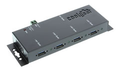 USB 3.0 4-Port Industrial hub with power Supply
