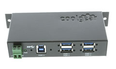 usb 3.0 4 port industrial hub by coolgear