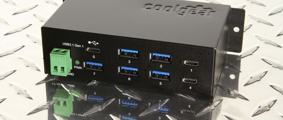 USB type-c 7 port hub with A and C ports